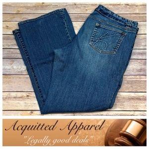 Michael Kors Classic MK Pocket Boot Cut Jeans